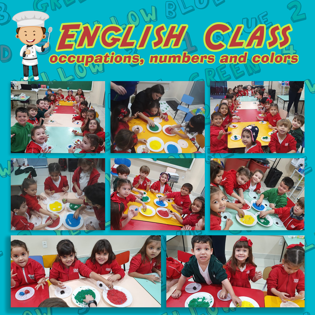 English Class occupations, numbers and colors